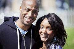 Portrait Of A Mature Black Couple Smiling royalty free stock image