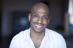 Portrait Of A Mature Black Man Smiling At The Camera. Royalty Free Stock Images