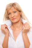 Portrait mature business woman isolated Stock Photography