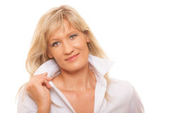 Portrait mature business woman isolated Royalty Free Stock Photo
