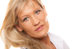 Portrait mature business woman isolated Stock Photo