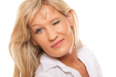 Portrait mature business woman isolated Royalty Free Stock Image