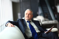 Portrait of a mature businessman Royalty Free Stock Photos