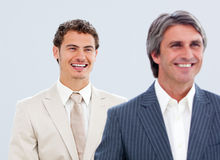 Portrait of a mature businessman and his colleague Royalty Free Stock Image