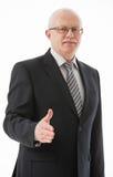Portrait of a mature businessman offering handshake Stock Images