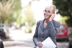 Portrait of a mature businesswoman Royalty Free Stock Photos