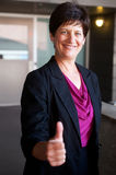 Portrait of a mature businesswoman royalty free stock photography