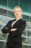 Portrait of a mature businesswoman smiling outdoor Royalty Free Stock Photos