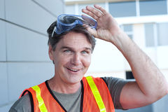 Portrait of a mature construction worker outside Royalty Free Stock Images