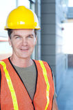 Portrait of a mature construction worker outside Stock Photos