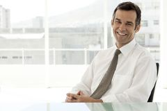 Portrait of a mature corporate businessman - close up royalty free stock photography