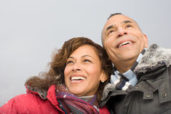 Portrait of a mature couple royalty free stock image