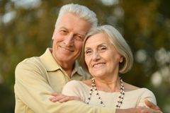 Portrait of Mature couple Royalty Free Stock Photography