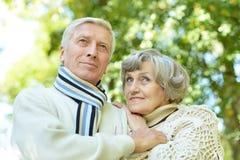 Portrait of a mature couple Stock Photos