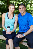 Portrait Of Mature Couple Exercising In Countryside Together Royalty Free Stock Image