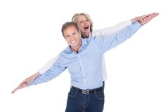 Portrait of mature couple having fun Stock Photo