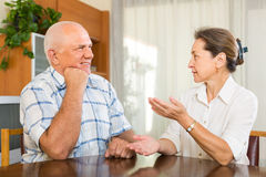 Portrait of mature couple at home Royalty Free Stock Photo