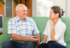 Portrait of mature couple at home Royalty Free Stock Photos
