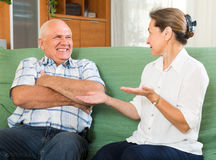 Portrait of mature couple at home Stock Photos