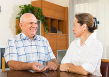 Portrait of mature couple at home Royalty Free Stock Photography