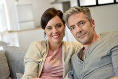 Portrait of mature couple Stock Photos