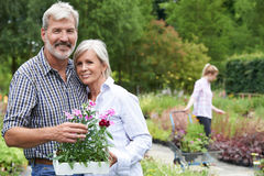 Portrait Of Mature Couple Shopping At Garden Center Stock Photography