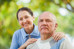Portrait of mature couple in sweaters Royalty Free Stock Photos