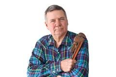 Portrait of Mature DIY plumber Stock Image