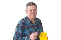 Portrait of Mature DIYer Stock Images