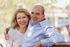 Portrait of mature family couple Stock Images