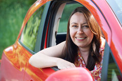Portrait Of Mature Female Driver In Car Royalty Free Stock Photos