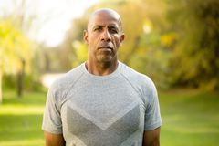 Fit African American man. stock photography