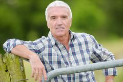 Portrait of mature gentleman Stock Image