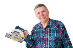 Portrait of Mature Handyman stock images