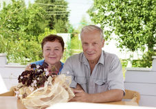 Portrait of mature happiness couple Royalty Free Stock Photography