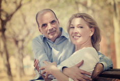 Portrait of mature happy family Stock Images