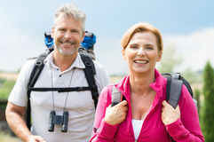 Portrait Of Mature Hiker Walking Royalty Free Stock Images