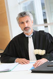 Portrait of mature lawyer in avocate suit Stock Photography