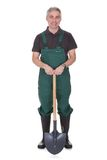 Portrait of mature male gardner Stock Photos