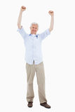 Portrait of a mature man with the arms up Royalty Free Stock Photography
