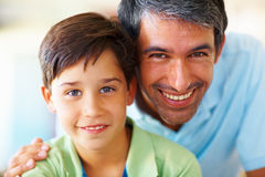 Portrait of a mature man with his son Stock Images