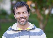 Portrait of a mature man smiling stock images