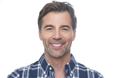 Portrait Of A Mature Man Smiling At The Camera stock image