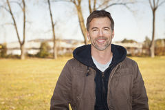 Portrait of A Mature Man Smiling At The Camera royalty free stock photos