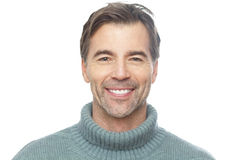 Portrait Of A Mature Man Smiling At The Camera royalty free stock photo