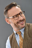 Portrait of mature man smiling Stock Photos