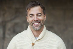 Portrait Of A Mature Man Smiling royalty free stock photos