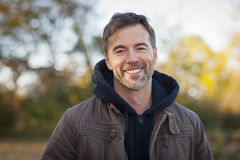 Portrait of A Mature Man Smiling outside Stock Photography
