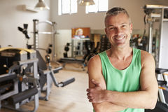 Portrait Of Mature Man Standing In Gym royalty free stock photo