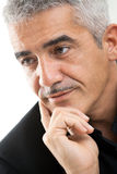 Portrait of mature man thinking Royalty Free Stock Photography